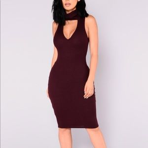 Dresses & Skirts - Seren Ribbed Dress in Wine. Never worn.